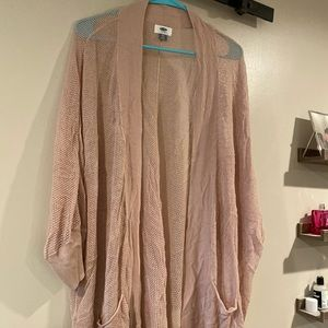 Old Navy slouchy cardigan- nude pink xxl